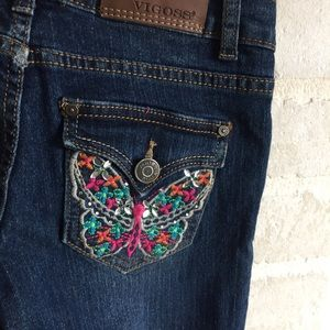 Vigoss Bottoms - Girls size 10 Vigoss denim Capri pants